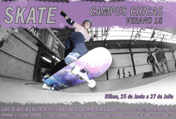 CAMPUS DE SKATE PARA CHICAS